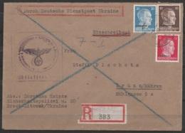 Occupation Allemande En Ukraine - L. Recom. Affr. 42pf De BREST-LITOWSK/1944 Pour BRÜNN Moravie (Brno - Rép. Tchèque) - Deutschland