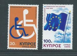Cyprus 1975 Disabled / Council Of Europe Set 2 MNH - Cyprus (Republic)