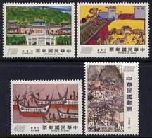 Taiwan 1977 8th Exhibition World School Children's Drawings Art Paintings Child Childhood Youth Ship Palace Stamps MNH - Childhood & Youth