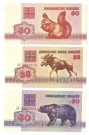 Billets - Belarus - 50 Kapeek, 25 Et 50 Rublei 1992 -  Neuf - Non Circulé - - Belarus
