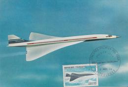 Carte  Maximum  1er  Jour  FRANCE   1er  Vol      Avion    CONCORDE     TOULOUSE   1969 - Cartes-Maximum