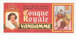 Buvard Couque Royale Vandamme Choisy Le Roi 94 Val De Marne - Alimentare