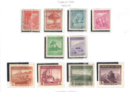 Chile PO 1942/46 Tipi 1938  Scott.217/227+See Scan On Scott.Page  Mixed Used+New - Chile