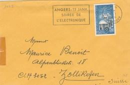 1462 YT SEUL SUR LETTRE ANGERS 2/1/66 POUR SUISSE -                                           TDA265 - 1961-....