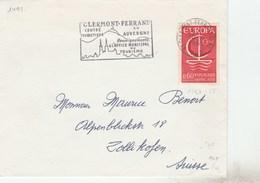 1491 YT SEUL SUR LETTRE CLERMONT FERRAND  10/10/68 POUR SUISSE -                                           TDA265 - 1961-....