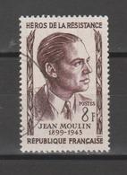 FRANCE / 1957 / Y&T N° 1100 : Jean Moulin - Choisi - Cachet Rond - France