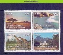 Ncf123 FAUNA ZOOGDIEREN TOERISME GIRAFFE MAMMALS TOURISM VISIT SOUTH AFRICA RSA 1990 PF/MNH - Vakantie & Toerisme