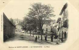 Environs De SAINT ANDRE  Le POMPIDOU  La Place Personnages RV - France