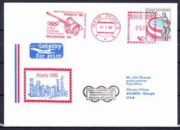 Tchéque République 1996, Envelope Avec Cachet Pour J.O. Atlanta 1996 - Summer 1996: Atlanta