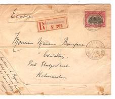 Guerre-Oorlog 14-18 TP 144 S/L.recommandée C.Ste Adresse Poste Belge 15/12/15 V.Ecosse C.d'arrivée JS244 - Other Zones