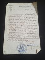 Lot Lettres Correspondance 1913-1921 + 1 Mairie Tampon - Vieux Papiers