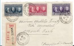 PM030 /  MONACO -  Monte Carlo, Internationale Briefmarkenausstellung 1928 Auf  Einschreiben - Briefe U. Dokumente