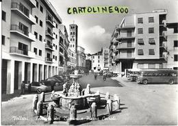 Lazio-velletri Piazza Cairoli Veduta Auto Corriere Fermata Auto D'epoca In Sosta Fontana Bella Animata Anni 50 - Velletri