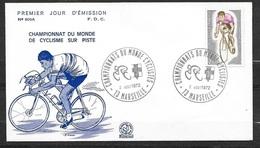 Lettre Illustrée Championnat Du Monde De Cyclisme Sur Piste Marseille Cachets Illustrés Le 2/8/1972  N°1724  TB Soldé! ! - Ciclismo