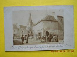 Saint Christophe Par Saint Gervais Les Trois Clochers ,belle Cpa Photo Attelage - Autres Communes