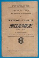 AGRICULTURE Rateau-Faneur McCORMICK Instructions Pour Emploi Et Fonctionnement Mac Mc Cormick Matériel - Planches & Plans Techniques