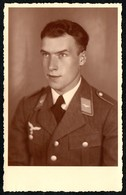 B3809 - Porträt - Offizier Luftwaffe Uniform - 2. WK WW - L. Karbacher München - Photographie