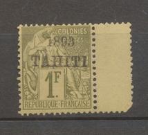 1893 Colonies Françaises Tahiti N°30 1f Olive Neuf* TB. Signé Calves N3106 - Tahiti (1882-1915)