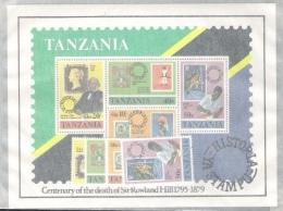 "Tanzania 1980: Michel-No. 141-144 + Block 20 ** MNH  ""Sir Rowland Hill"" - Rowland Hill"