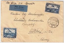 Belgien, 1938, Lettre Avion Luxemburg, Timbre Avion Belgium!  , #a532 - Airmail