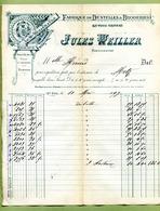 "SAINT-DIE  (88) : "" DENTELLES & BRODERIES : Jules WEILLER ""  1897 - France"