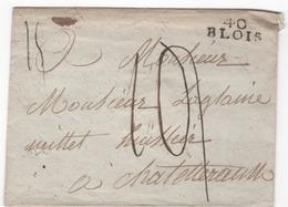 MP  40  BLOIS  Vers  1792  ( Indice  8 = 45 €) - Marcophilie (Lettres)