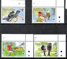 Seychelles 2008 Drongos + Fody MNH CV £3.00 - Songbirds & Tree Dwellers