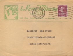 France 1937 Advertising Cover Enveloppe Publicitaire Magazine La Revue Moderne - Fabriken Und Industrien