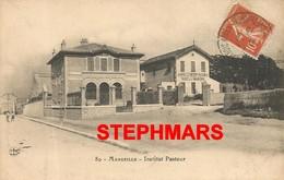 CPA 13 : N°80 - MARSEILLE -  LE PHARO CHARLES LIVON - INSTITUT PASTEUR - édition FERNAND GENOULIAT - Endoume, Roucas, Corniche, Beaches
