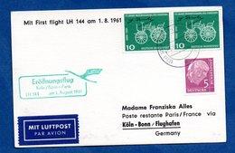 Allemagne  / Entier Postal   /  Eroffnungsflug  / 1-08-61 - Cartoline - Usati