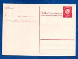 Allemagne  / Entier Postal   /  20 Pf Rouge Avec Réponse  / Vierge - [7] Federal Republic