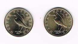 HONGARIJE  2 X 5 FORINT  1994/95 - Hongrie
