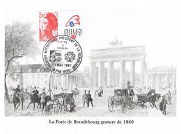 François Mittérrand De La République Visite à Berlin 11.5.1987 BPM 600 - France