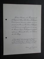 VP FAIRE PART MARIAGE L (V1811) Jacques Verhaegen & Louise De Lalieux De La Rocq (1 Vue) Château De Templeuve (Hainaut) - Hochzeit