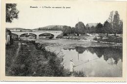 HAMOIR : L'Ourthe En Amont Du Pont - Pêcheur - Hamoir