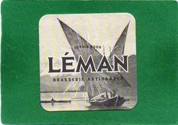 SOUS BOCK - LEMAN ,Brasserie Artisanale  état Impeccable  BARQUE DU LEMAN - Bierdeckel