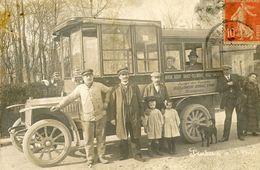 Cpa Carte Photo Autobus Du Plateau D'Avron (93) Neuilly Plaisance, Le Raincy, Rosny Sous Bois (état) - Non Classés