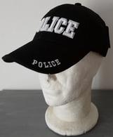 Casquette Noire POLICE CAP US ( INTERVENTION DEGUISEMENT SECURITE Taille Unique Réglable - Headpieces, Headdresses