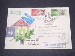LITUANIE - Enveloppe En Recommandé De Jurbarkas Pour La France En 1996 , Affranchissement Plaisant - L 16925 - Lituanie