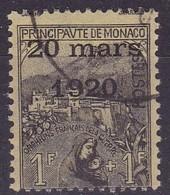 Monaco, Yvert N°42 Oblitéré - Cote 95 € - Monaco
