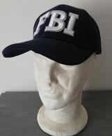 Casquette Bleue FBI CAP US Federal Bureau Of Investigation ( Broderie Blanche ) - Headpieces, Headdresses