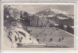 LEYSIN - LA PATINOIRE ET LE CHAMOSSAIRE - ANIMATION - 22.01.29 - ( TROUS DE PUNAISES) - VD Vaud