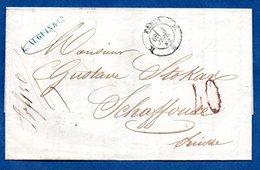 Lettre  / De Paris / Pour Schaffouse ( Suisse ) /  3 Juillet 1863 - 1849-1876: Klassik