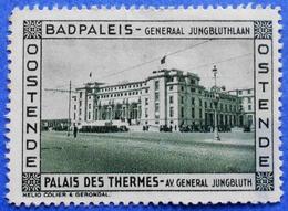 BELGIUM BELGIQUE BELGIE CINDERELLA OSTENDE BADPALEIS PALAIS DES THERMES - USED (?) - Other