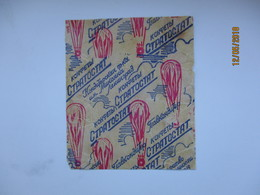 RUSSIA , USSR    OLD  CHOCOLATE   CANDY  WRAPPER  STRATOSTAT ,  O - Chocolate