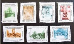 CAMBODIA CAMBODGE MNH ** 1997 DEFINITIVES TEMPLES PAGODES ANGKOR WAT YVERT 1409/1415 - Cambodia
