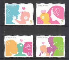 Taiwan 2012 China Chinese Familial Bond Baby Parent Children Love Family Relation Heart Father Mother Stamps MNH - Childhood & Youth