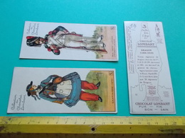 CHROMO CHOCOLAT LOMBART 3 MILITARIA DRAGON 1804 1815 GARDE IMERIALE GRENADIER GRAY CANTINIERE 1870 Napoleon - Lombart