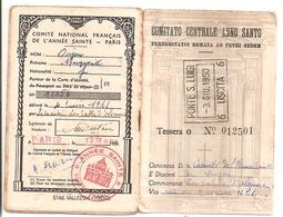 Laisser Passer Pour Rome - Cominato Centrale Anno Aanto - 3 Juillet 1950 - Religion & Esotérisme