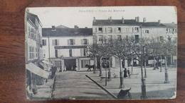 CPA ROANNE - Place Du Marché - Belle Animation Et Cachet Hôpital Temporaire N°84 Roanne - Roanne